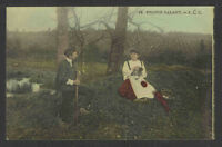 1910s PROPOS GALANT ROMANTIC RPPC REAL PICTURE POSTCARD
