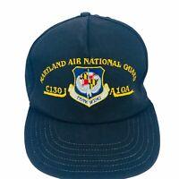 VINTAGE Maryland Air National Guard 175th Wing Black Snapback Hat Trucker Cap