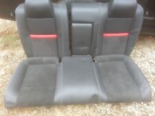09 Dodge Challenger SRT-8 black/red leather rear seat