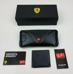 New authentic Ray-Ban Ferrari edition black/red case & cleaning cloth only ++