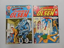 Superman's Pal Jimmy Olsen lot of 2! #'s 152 and 153! VF8.0+ Bronze age DC!