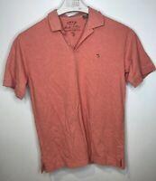 ORVIS Men's Signature Polo Short Sleeve Shirt Size M 100% Pima Cotton
