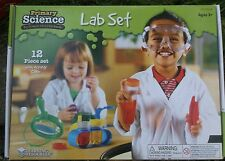 CHILDRENS / KIDS PRIMARY SCIENCE LAB SET test tubes, goggles, activities guide