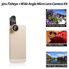 3in1 180° Fish eye+Wide Angle + Macro Camera Photo Zoom Lens for iPhone 6 plus