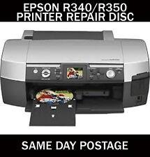 EPSON STYLUS PHOTO R340 R350 RESET SERVICE INKPAD ERROR DISC (FREE UK DELIVERY)*