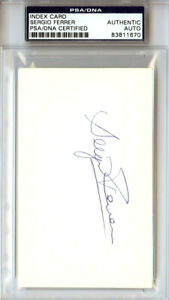 Sergio Ferrer Autographed Signed 3x5 Index Card New York Mets PSA/DNA #83811670