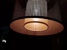 ULTRARARE  Vintage Italian Vienna Straw  Ratin Bamboo Lamp Chandelier Light