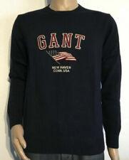GANT COTTON RETRO FLAG CREW PULLOVER NEU COL NAVY GR XL *50