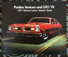 PONTIAC GTO 1974 brochure catalog - English - Canadian Market