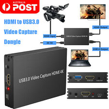 HDMI Game Capture Card 1080p 4k to USB 3.0 Live Video Capture for Ps3 Ps4 Wii U