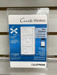 LOT OF 4 LUTRON Caseta Wireless Smart Fan Speed Control Single-Pole PD-FSQN-WHR