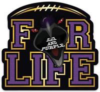 """Baltimore Ravens """"FOR LIFE""""  Magnet: Baltimore Ravens NFL Football MAGNET"""