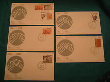 Lot of 5-1976 Fd of Issue-official Canada P.O. Cachet-#578-81-Iroquis Indians