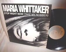 """MARIA WHITTAKER-STOP RIGHT NOW 3 TRACKS-BIG WAVE BWRT 35 FRANCE VG+/VG+ 12"""""""
