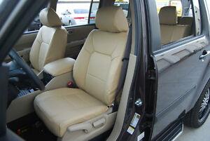 HONDA PILOT 2003-2012 IGGEE S.LEATHER CUSTOM FIT SEAT COVER 13 COLORS AVAILABLE