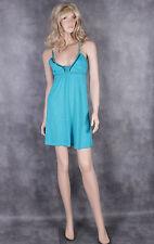 Miss Selfridge Green Cotton Dress Size 12 Ladies Summer Party Womens Jade Top