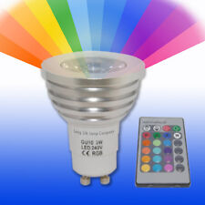 GU10 LED Remote Control Colour Changing Light Bulb 3W 16 Colours Energy Saving