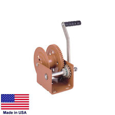 """HAND WINCH Trailer Winch - Commercial - 1.500 Lb Cap - Holds 60 Ft of 1/4"""" Rope"""