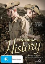 Yesterday Is HISTORY DVD TV SERIES AUSTRALIAN WAR BIOGRAPHY TRUE STORIES NEW R4