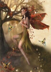 """WOOD NYMPH"" TREE FREE GREETING CARD BY LINDA BEHRQVIST"
