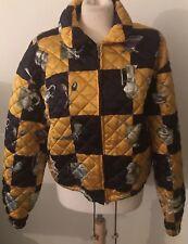 Vintage Crisca Silk Print Quilted Jacket Sz 40