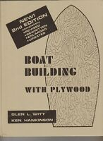 Boat Building with Plywood- New 2d Edition by Glen Witt