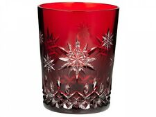 WATERFORD Snowflake 2011 Wishes Joy Prestige Ruby Double Old Fashion New 1st