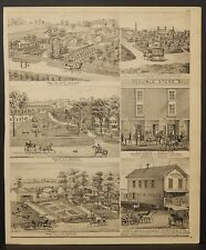 Wisconsin Walworth County Map C.A. Pratt Engravings 1873 Dbl Side J22#58