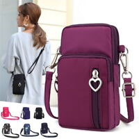 Mini Cross-Body Cell Phone Holder Bag Shoulder Strap Wallet Pouch Bag Purse UK