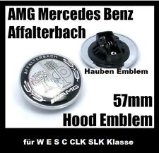 Mercedes Benz 57mm AMG Silber Hauben Emblem für W E S C CLK SLK Klasse