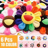 10Pcs takashi murakami Flower Rainbow Strap Pin Broach Badge kaikai kiki Plush