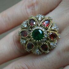 925 Silver Turkish Handmade Ruby Ring Size 7 Handmade Jewelry