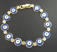 Nazar Boncuk Evil Eye Gold Armband 18 Karat vergoldet Böses Auge Blick Bilezik