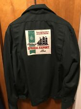Heileman Brewing Beer Milwaukee ~ Vintage Mens Lrg ~ Delivery Work Jacket Export