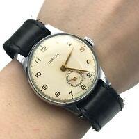 Pobeda Ivory Classic Antique 1947 Casual SERVICED Men Wristwatch USSR Rare 2MCHZ