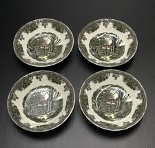 4 Johnson Brothers Friendly Village Stone Wall Dessert Fruit Sauce Bowls Mint