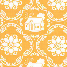 Half Metre Quilting Fabric ~ Riley Blake Daisy Cottage ~ Damask Yellow