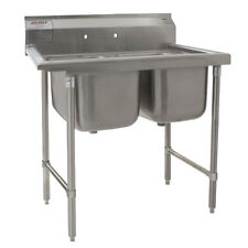 Eagle Group 412-16-2, Stainless Steel Commercial Compartment Sink with Two 16-In
