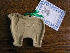 Brown Bag Cookie Art 1986 COW Craft Paper Wax Mold Hill Design w/ Original Book