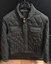 SCOTCH AND SODA QUILTED PADDED JACKET IN GREEN, Size XL
