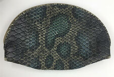 Consuela Rattlesnake Snake Print Mexican Leather Cosmetic Makeup Case Bag Clutch