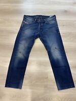 Diesel Men's Belther Regular Slim Tapered Leg Blue Denim Jeans 0608A W36 L30