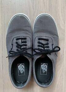 Vans Skateboarding Gray Denim Shoes Sneakers Men's Size 8.5