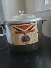 Vintage Reliable USA HY FRY Automatic Electric Cooker Fryer M-200 Brown & Chrome