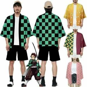 Demon Slayer Tanjiro Kamado Yaiba Kimono T Shirt Cosplay Costume! UK SELLER!