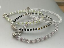 Glass Crystal & Glass Spacer Bead Bracelets with Star Clasps