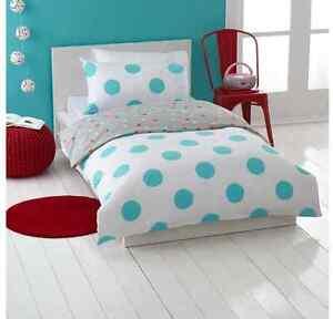 Kids Neon Paint Spots Reversible Design Single Bed 2pc Doona / Quilt Cover Set