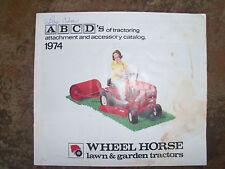 1974 WHEEL HORSE  Attachment & Accessory  Catalog