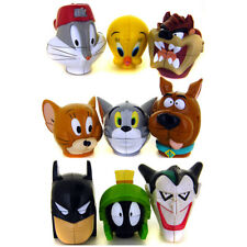 1999 Warner Bros Batman Joker Marvin Scooby Tweety Tunes Bunny Twist Puzzle Head