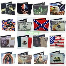 Printed Handcrafted BI-Fold Men's Leather wallet